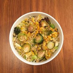 I was in need of something warm, hearty and wholesome on this crisp fall day.  Freekah is a nutty, slightly smoky, fire-roasted whole grain. Paired with brussels sprouts, butternut squash, shallots, apples and lightly tossed in a citronette dressing with a sprinkle of parm, it's a new fall favorite. #fall #rootvegetables #brusselssprouts #grounding #warmth #grains #apples #DIY #cooking #homemade