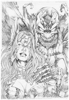Angela and Spawn artwork by Marcio Abreu 7.