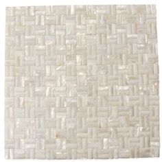 Shop 12 x 12 Serene White 3D Groutless Polished Pearl Shell Glass Tile in White at TileBar.com.