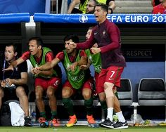 Cristiano Ronaldo reacts during euro 2016 final
