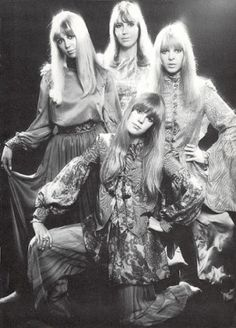 The women of the Beatles: Patty Harrison, Cynthia Lennon, Maureen Starr, with Jenny Boyd. by Banphrionsa