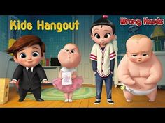 Wrong Heads For kids The Boss Baby Tim Jimbo Staci Finger Family Song Nursery Rhymes kids hangout - YouTube