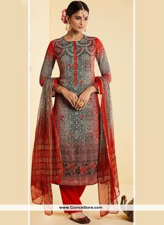 3f5339dfd01 Buy latest salwar kameez outfits like fashion salwar suit for women from best  online shopping store. Order this faux georgette multi colour designer ...