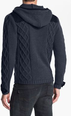Men's Cable Knit Sweater hoodie