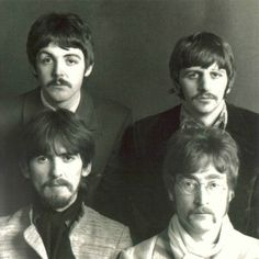 Moustache men, The Beatles.