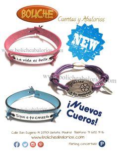 #cueroaltacalidad, #pulserasconmensaje  Nuevos cueros. Alta Calidad! www.bolicheabalorios.com