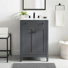 24 Inch Vanity, 24 Inch Bathroom Vanity, 24 Vanity, Small Bathroom Vanities, Bathroom Vanity Cabinets, Bathroom Furniture, Modern Bathroom, Single Sink Vanity, Small Bathroom Sink Cabinet