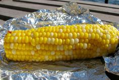 Delicious oven baked corn on the cob