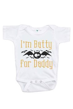 Custom Party Shop Baby's Batty for Daddy Halloween Onepiece