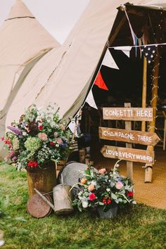 Vintage Gown for a Bohemian Bride and her Camp Village Style Whimsical Wedding Festival Wedding Inspiration and Ideas for your Wedding at The Orchard at Chesfield Tipi Wedding, Camp Wedding, Marquee Wedding, Rustic Wedding, Wedding Flowers, Wedding Blog, Wedding Ideas, Camping Wedding Theme, Wedding Photos