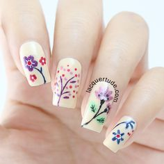 Spring Flowers Nail Art!
