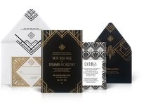 Gershwin Luxury Art Deco Wedding Invitation Suite