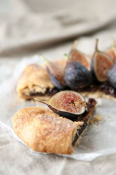Almond Fig Tart made with almond paste