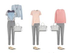Капсульный гардероб для Светлого цветотипа с серыми брюками