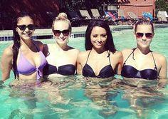 Pool time. Nina, Candice, Kat, & Claire