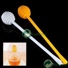 New arrive Plastic Honey Dipper Stick for Honey Jar Long Handle wholesale
