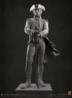 ArtStation - The Order: 1886 - Military Statue, Daniel Peteuil
