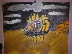 Scorpion Queen Paying Homage to the Moon by Laura Petellat-Entwisle (Book of Faeye) 11-2014