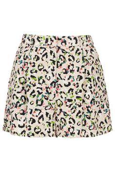 Floral Animal Print Shorts