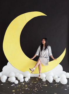 Giant Moon Backdrop DIY