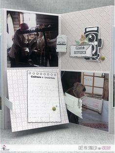 """Sandelsa : #Tampons et #matrices de coupe #dies #4enSCRAP """"La vie en #images"""" #photo #voyages #scrapbooking #DIY #loisirscréatifs #carte #carterie Mini Albums, Scrapbooking Diy, Photo Souvenir, Tampons Transparents, Turntable, Photos, Travel, Life, Cutaway"""