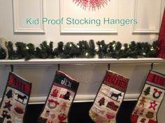 4 Pack Haute Original Mantle Clips HOLLY GUNMETAL Stocking Christmas Hook Hanger