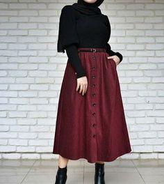 Fashion Tips For Women Over 20 Tesettür Kombinleri Modern Hijab Fashion, Hijab Fashion Inspiration, Abaya Fashion, Muslim Fashion, Modest Fashion, Skirt Fashion, Fashion Outfits, Hijab Mode, Mode Abaya