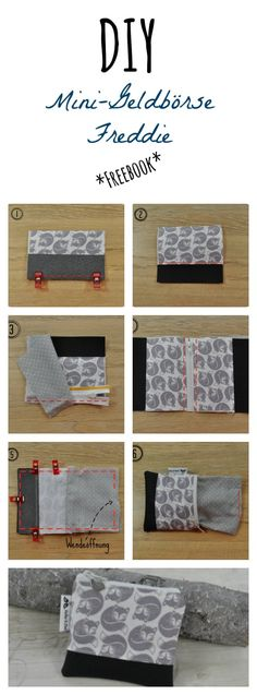 Small wallet (pattern and instructions) tutorial Best Picture For DIY Wallet pattern For Your Tas Purse Patterns, Sewing Patterns Free, Knitting Patterns, Diy Wallet Duct Tape, Diy Wallet Pattern, Sewing Crafts, Sewing Projects, Diy Makeup Bag, Diy Purse