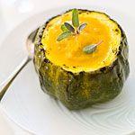 Roasted Squash Soup with Sage Recipe | MyRecipes.com