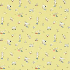 Dogs in Clogs  Yellow wallpaper by Sanderson