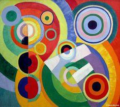 """""""L'amore non è per raggiungere la felicità, che quella a cercare di procurarsela scappa sempre, ma è per raggiungere la gioia di vivere, che non c'entra con la felicità ma con la vita. E la gioia di vivere non te la toglie nessuno, succeda quel che succeda, neanche il dolore..""""       (Img: Robert Delaunay, """"Ritmo, gioia di vivere"""", 1930, Centre Pompidou, Parigi)"""