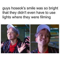 bts memes. hoseok. jhope. smiling. not today mv