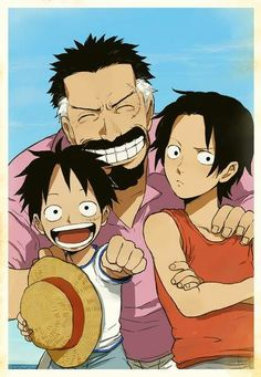 Luffy, Ace and Garp