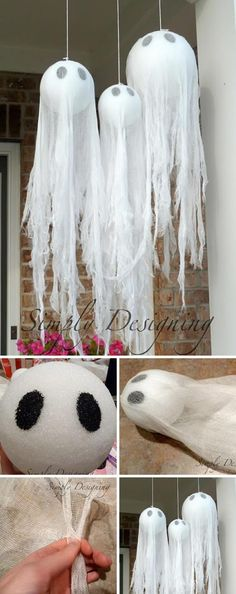 Give your home sweet home a decidedly devilish air with these easy diy halloween decorations from countryliving com. Best 50 diy halloween decorations that will decorate your home for a spooktacular time. Check out 17 super cute halloween party food . Diy Halloween Party, Homemade Halloween Decorations, Halloween Tags, Spooky Decor, Halloween Birthday, Outdoor Halloween, Holidays Halloween, Halloween Crafts, Christmas Decorations
