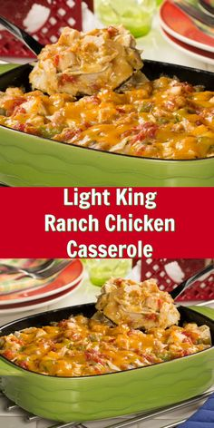 Our Light King Ranch Casserole is a healthier version of your favorite creamy and cheesy Tex-Mex chicken casserole recipe!