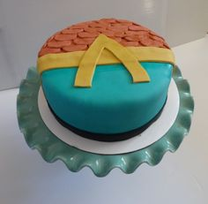 Aquaman Comic Cake