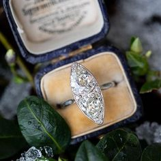 We're enamored to say the least by antique and vintage engagement rings - Edwardian, Victorian, Art Deco, Retro… You name it, we've fawned over it. Victorian Engagement Rings, Classic Engagement Rings, Platinum Engagement Rings, Deco Engagement Ring, Perfect Engagement Ring, Different Engagement Rings, Pear Diamond, Diamond Cuts, Diamond Rings