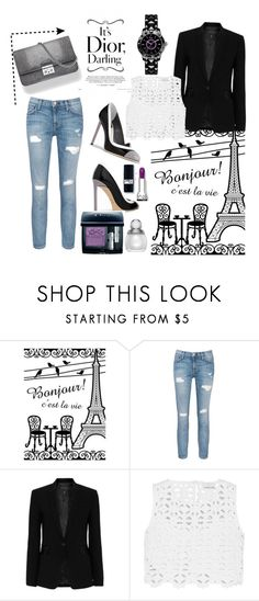"""""""Dior!!!"""" by b-a-hanen on Polyvore featuring Current/Elliott, rag & bone, Miguelina, Christian Dior, Dior and jeans"""