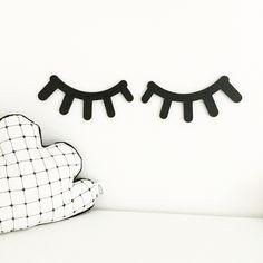 Wooden sleepy eyes wall decor. teddyandco.bigcartel.com