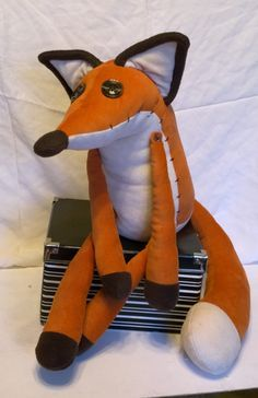 This Fox plush toy - was inspired by The Little Prince animation movie. Soft and huggable, made out of the best cloth we could pick out for… The Little Prince Movie, Fox Crafts, Fox Pattern, Sock Animals, Fox Art, Sewing Toys, Softies, Plushies, Stuffed Animal Patterns