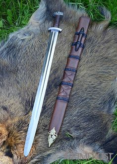 Viking Sword replica of an 11th century one, found in England. http://shop.grimfrost.com/en/weapons-and-armor/swords/viking-sword-11th-century.html