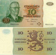 Finland 10 Markkaa 1980 (J. Money Images, Good Old Times, Saving For Retirement, Historian, Finland, Nostalgia, Memories, Retro, Helsinki