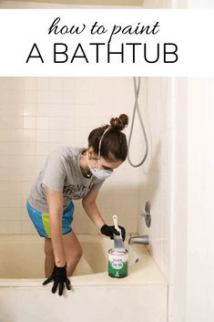 How to refinish your bathtub using Rust-Oleum's Tub & Tile Refinishing Kit. You won't believe how simple it is to paint your bathtub to give it a new look! Diy Bathroom Remodel, Diy Bathroom Decor, Simple Bathroom, Master Bathroom, Bathroom Ideas, Bathroom Makeovers, Shower Ideas, Natural Bathroom, Restroom Remodel