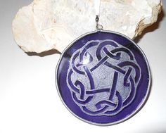 #Celtic Stained Glass Tree #Ornament by artophile on Etsy, $15.00