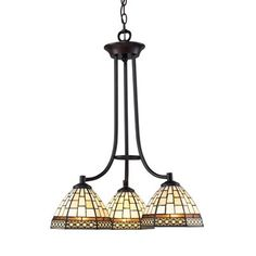 Z-Lite Z35-3 3 Light Prairie Garden Chandelier, Chestnut Bronze -lowes possible dinning room light