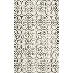 Eat in kitchen, 7' round, Safavieh Dip Dye Ivory & Charcoal Geometric Area Rug