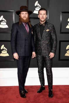 Brothers Osborne looks like they're only guilty of a good time in those suits!