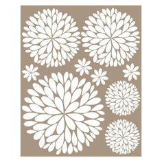 Another Bunch of Dahlia Flowers Vinyl Wall Decal ($30) ❤ liked on Polyvore