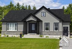 New House Renovation Facade Entrance Ideas Black Trim Exterior House, Exterior Paint Colors For House, Grey Exterior, Paint Colors For Home, Exterior Colors, Stucco Colors, Bungalow Exterior, Cottage Exterior, Building Exterior