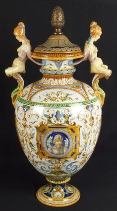Renaissance style Italian majolica charger with sacrificial scene from Classical antiquity of the martyrdom of a virgin (signed in scene) F. Pesaro. Description from pinterest.com. I searched for this on bing.com/images